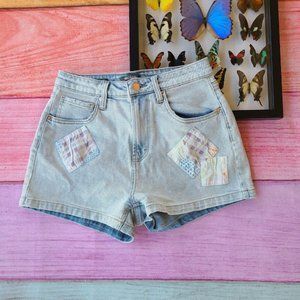 Wild Fable Highest Rise Patchwork Mom Shorts 6